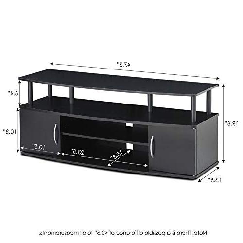 Furinno Center Hold to 50-in TV, 15113BKW