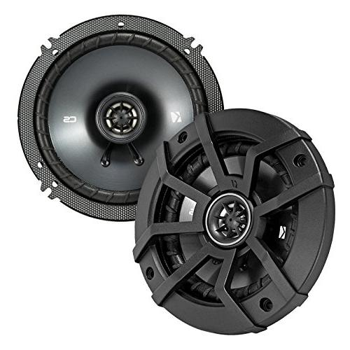 """Kicker 6.5"""" Inch Coaxial Speakers - Combo With Rings For Motorcycles + 50 Foot 14 Gauge"""