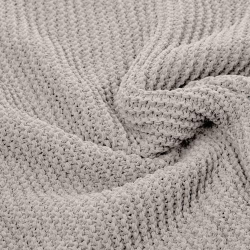 "AmazonBasics Knitted Blanket - Light 50"" x 60"""