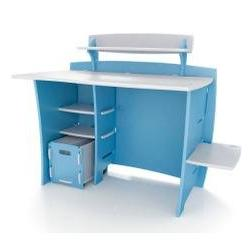 Legare 43-inch Kids Desk with File Cart, Blue/White