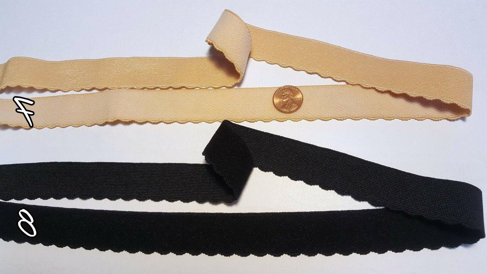 "Lingerie Plush Elastic Strap Black & 3/4"", 15/16"