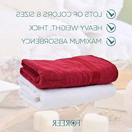 FOREER Egyptian Cotton Towels Made in Turkey. & Absorbent. Variety of Colors Match Any Decor. Gift
