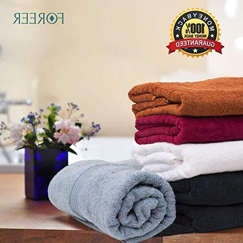 FOREER 100% Egyptian Cotton Made in Turkey. Super & Absorbent. Variety of Match Any Gift Idea