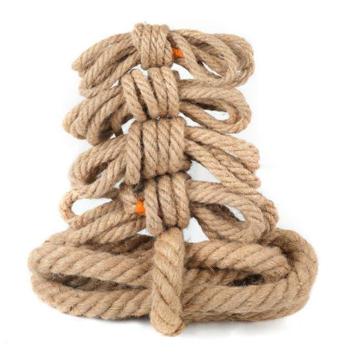 Manila Tan Brown Twisted 3 Natural Fiber Cord for Indoor &