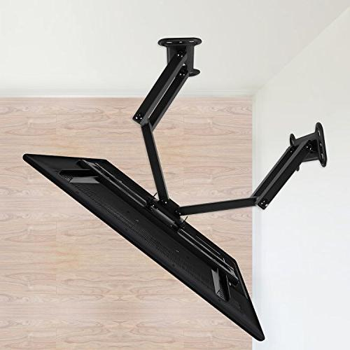 Mounting Dream Corner TV Bracket for Inch OLED Flat Panel Mount with Swivel Arms VESA 400x400mm with Tilting