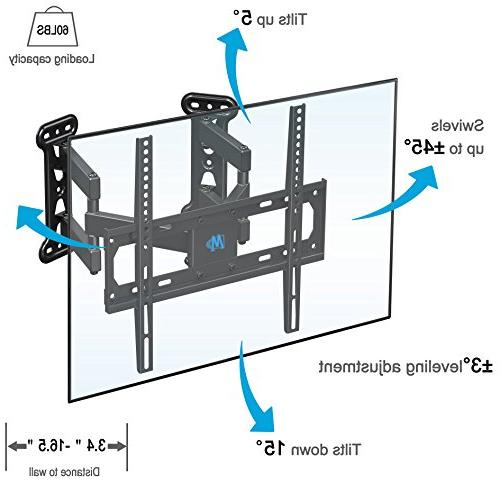 Mounting Corner Bracket for Inch LED, OLED Flat Mount with Swivel Articulating Arms up 400x400mm and
