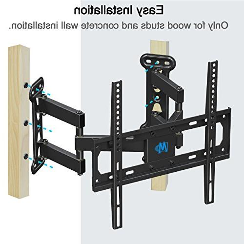Mounting Dream Corner TV Wall Bracket for 26-50 Inch LED, Flat Mount Arms VESA 400x400mm and with Tilting