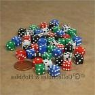 NEW Set of 50 Mini 8mm Six Sided Dice - 5 Colors Small RPG G