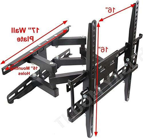 "Husky Most Inch Arm Full Motion TV Wall Mount. 66 Tilt Swivel Articulating Bracket. Most 32 40 46 50 55"" LCD TV"