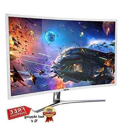 "Viotek NB32C 32"" Full HD 1080p Curved LED Monitor VGA DVI HD"