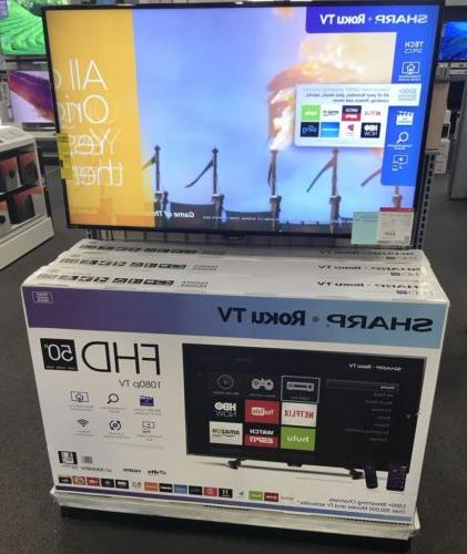 NEW Sharp 50 Inch Class LED 1080p SMART FULL HDTV Roku TV LC