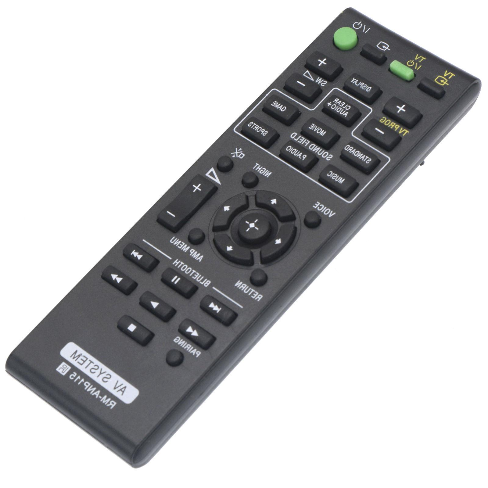 New RM-ANP115 Replace Remote for Sony Sound Bar HT-CT370 HT-