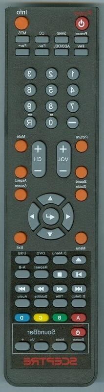 New TV DVD Soundbar Combo Remote For Sceptre X325BV-FHD E245