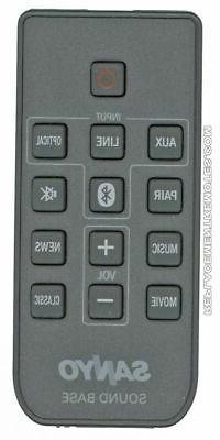 NEW SANYO Sound Bar System Remote Control WIR113001FA05