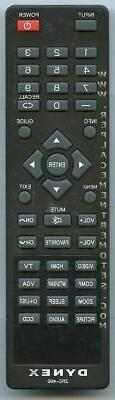 NEW Dynex Remote Control for  DX22L150A11E22A5ZNKLWBMNN, DX2
