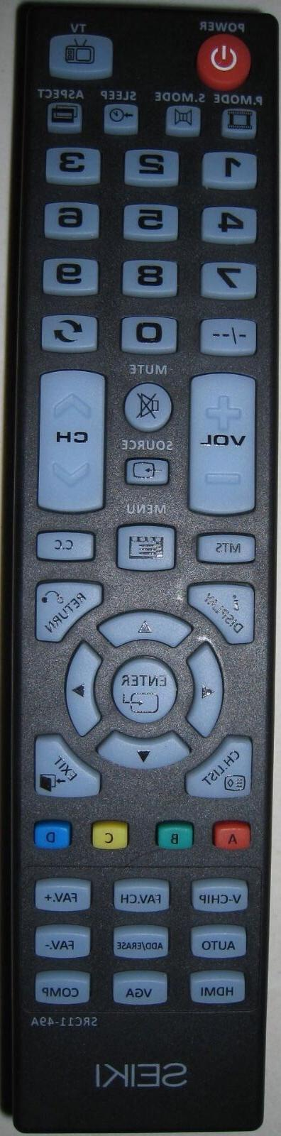 Original Seiki SRC11-49A Remote Control  for Seiki TV SC322T