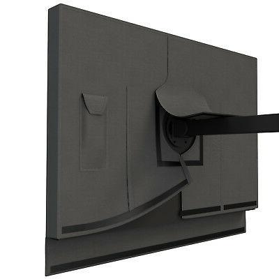 Duraviva Outdoor Flat TV Weatherproof Cover Fits LED, Plasma TVs