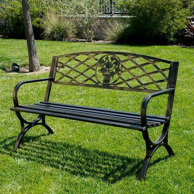 outdoor park bench 50 inch backyard porch