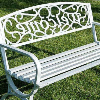 Outdoor inch Welcome Backyard Frame, White