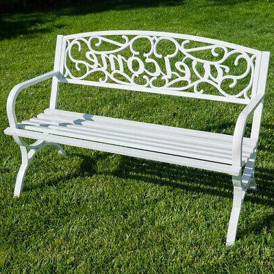 outdoor park bench 50 inch welcome elegance