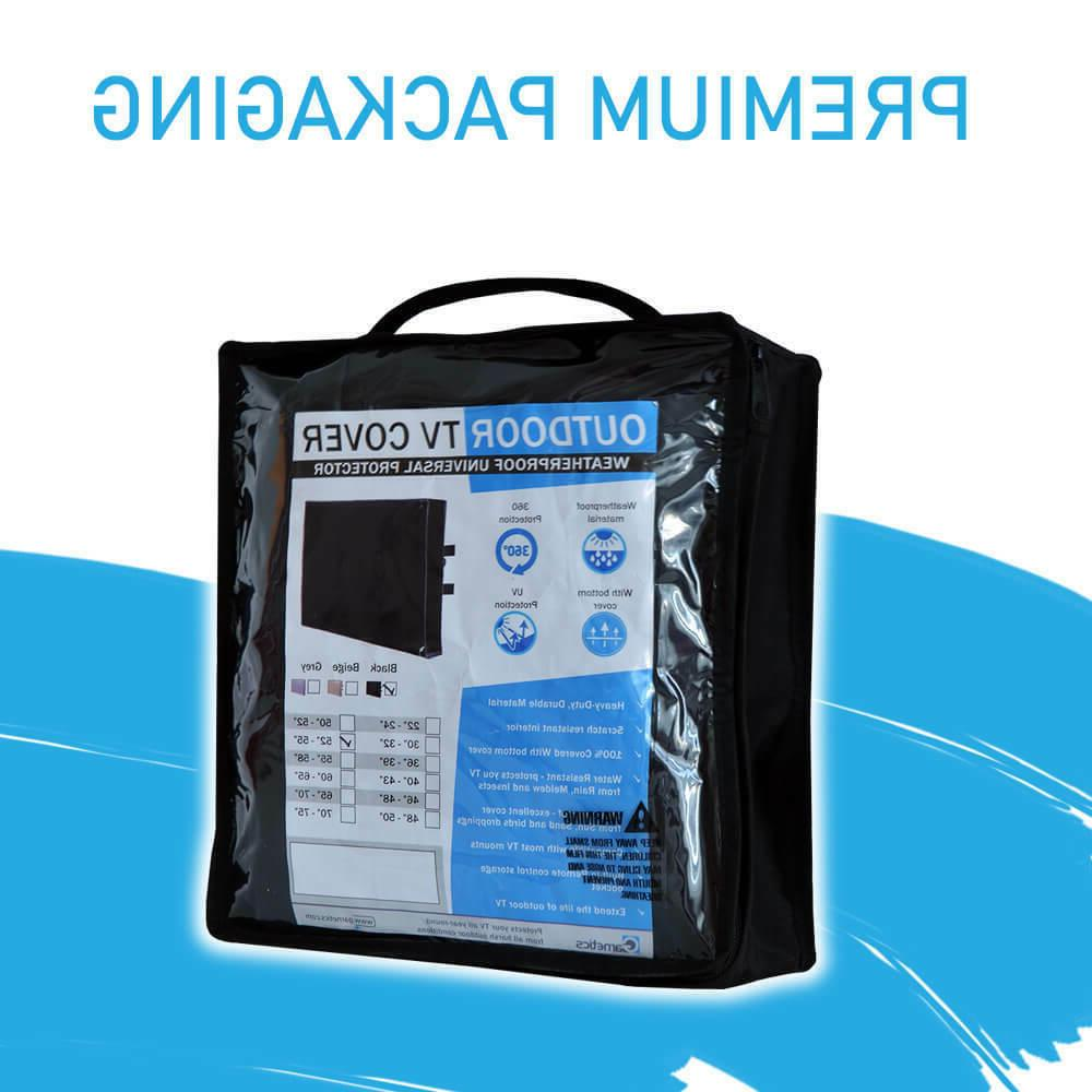 Outdoor TV Cover 48 inch flat Screen Weatherproof 360 protection