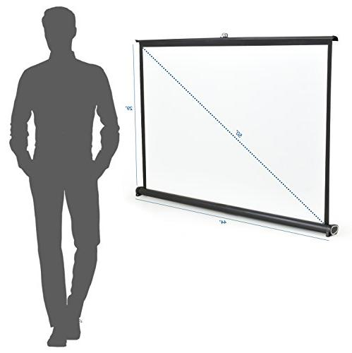 "VIVO 50"" Portable Projector Screen - Mobile Projection Up Folding Stand"
