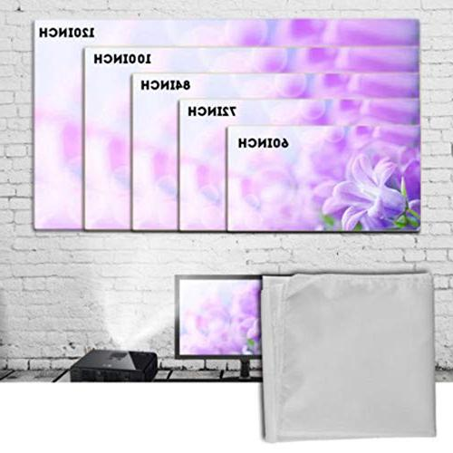 Sinfu Screen Portable Fabric HD for Home Outside 60inch/72inch/84inch/100inch/120inch
