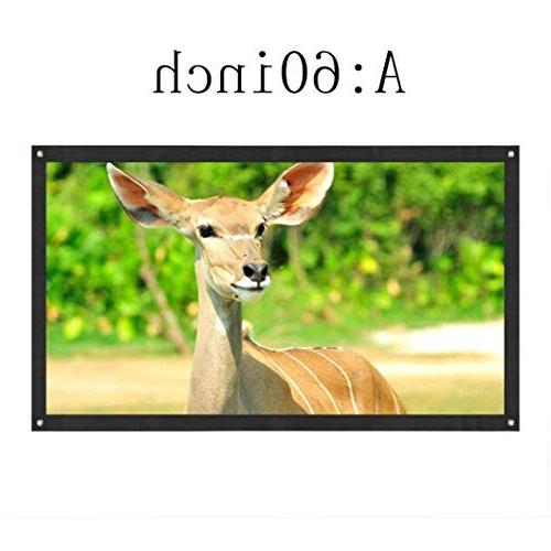 Sinfu Projection Screen 16:9 Portable HD for Theater Outside
