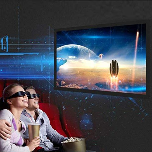 Sinfu Projection Screen Portable Fabric Foldable 3D HD Outside 60inch/72inch/84inch/100inch/120inch