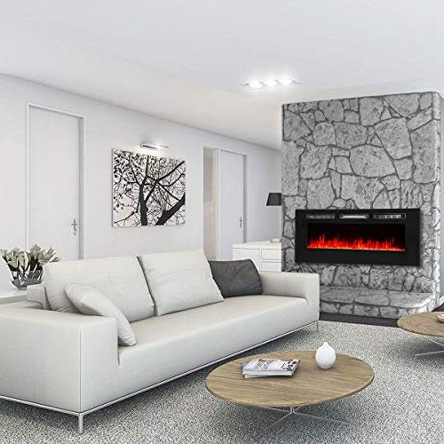 XtremepowerUS Recessed in-Wall Mounted Heater Fireplace