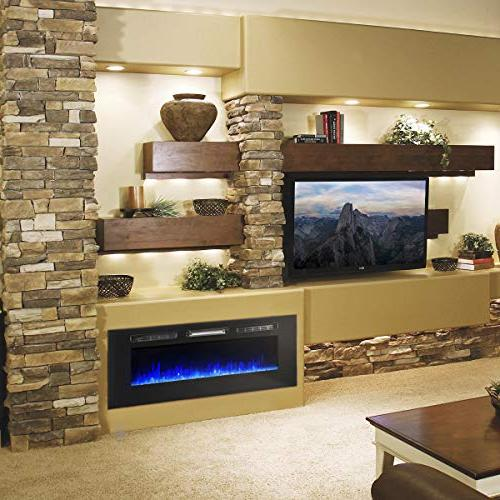 XtremepowerUS Fireplace in-Wall Wall Mounted Heater 750W