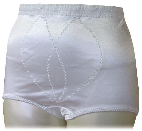 satin panty girdle brief white 50 inch