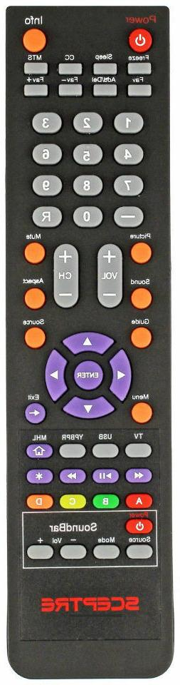 Sceptre TV Sound Bar REMOTE For E505BV-FMQR E555BV-FMQRE558B