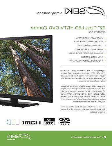 Seiki SE32HY27-D 60Hz LED TV-DVD