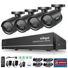 SANNCE 4-Channel HD 1080N Security Camera System DVR and 4 1