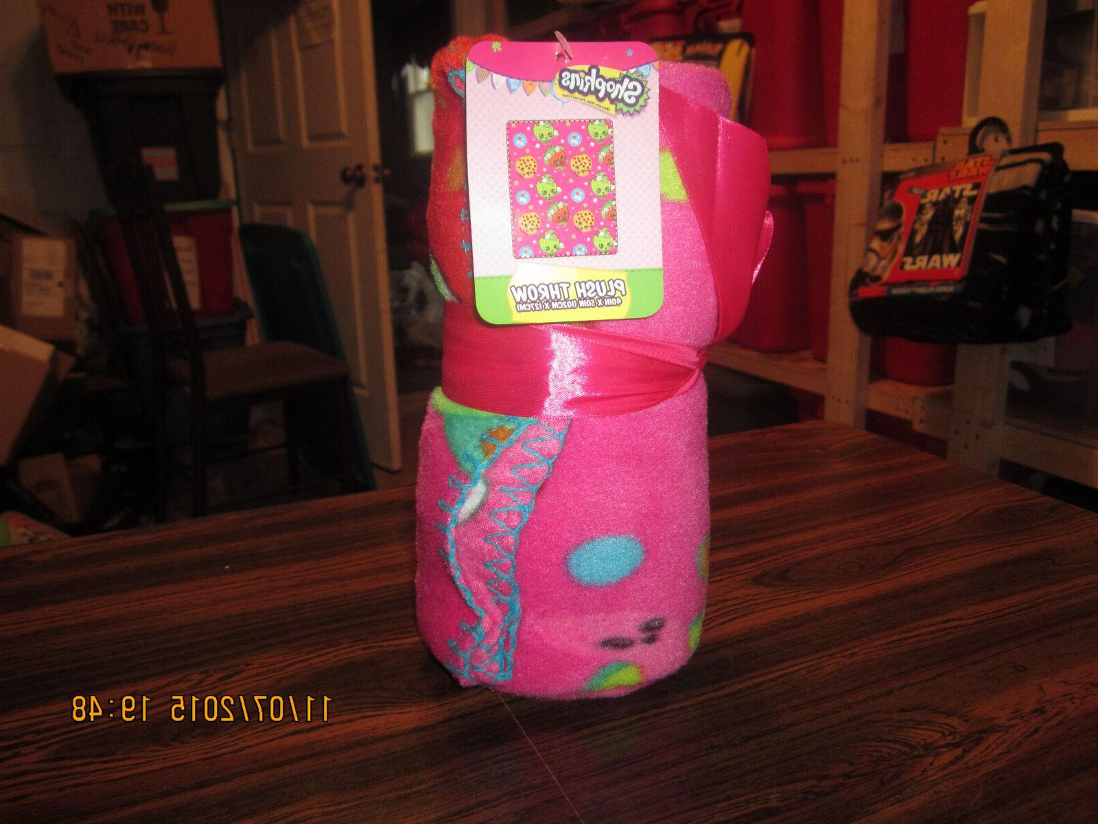 Shopkins Fleece Blanket, 40 by 50-Inch New 2015 With Tags Be