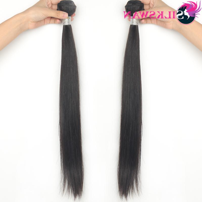 Silkswan Ratio 34 <font><b>40</b></font> <font><b>50</b></font> <font><b>Inch</b></font> Remy Natural Black Hair For Women