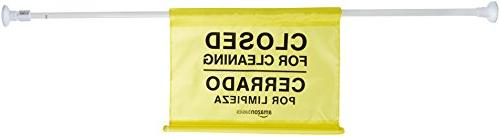 AmazonBasics Site Sign - Closed Cleaning, Bilingual 6-Pack