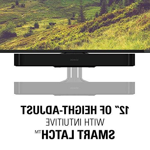 """Sanus Soundbar Compatible with Sonos Height Adjustable Up 12"""" Designed to Work with TV - Custom Fit The Beam for Audio Performance"""