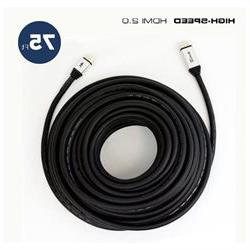 QualGear 75 Feet High Speed HDMI 2.0 cable with 24k Gold Pla