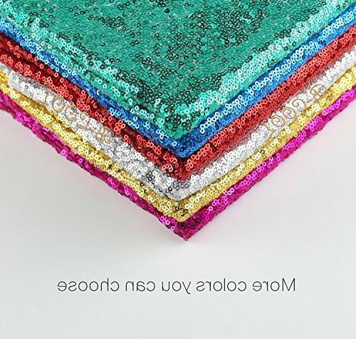 """B-COOL 50""""x80"""" sequin tablecloth sequins fabric sparkly sequin fabric Wedding"""
