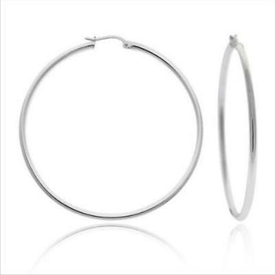 sterling silver large 2 inch hoop earrings