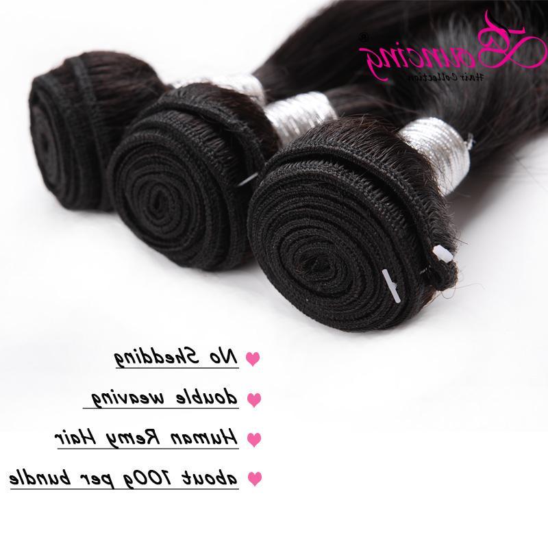 Bouncing Hair 34 36 38 <font><b>40</b></font> <font><b>Inches</b></font> Straight Long <font><b>Inch</b></font> Hair Weft Brazilian Ratio Remy Hair Women