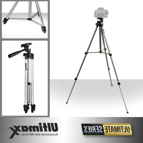 """Full Size 50"""" Tripod With Leveler Adjust & Carrying Case f"""