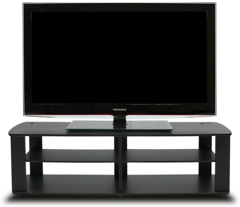 tv console stand entertainment media black center
