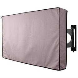 Outdoor TV Cover, Grey Weatherproof Universal Protector for