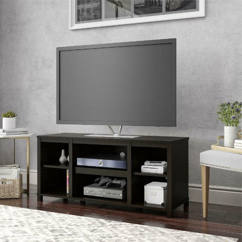 TV Stand 50 Mount Console Bookcase Espresso