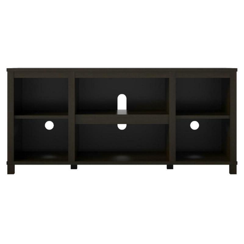TV inch Mount Console Bookcase Espresso New