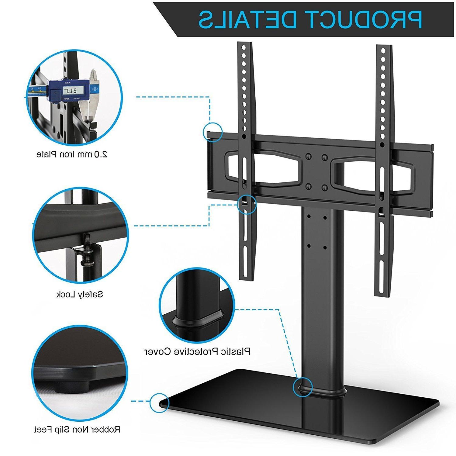 TV Stand Universal Table Top Tv Mount Screen Fits 27 Inch