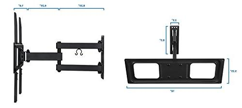 Mount-It! Swivel Wall Mount with Motion 17-Inch Extension for Inch LED, TVs, 180 15 Deg